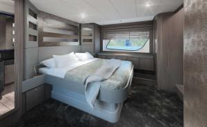 Ferretti 650 la barca fly diventa sempre pi aerodinamica for Cabina armadio dietro il letto