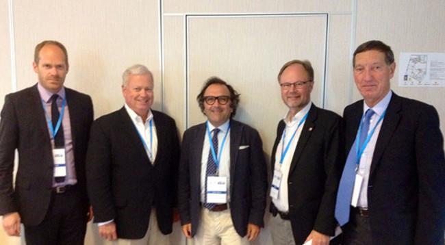 Da sinistra: Udo Kleinitz, Thom Dammrich, Andrea Razeto, Jouko Huji, Tony Rice.