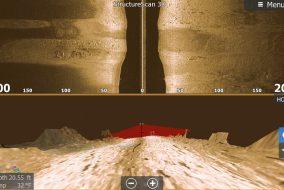 Lowrance SideScan 3D over 3D hori_StructureScan 3D sidescan imaging technology on HDS Gen3_13106