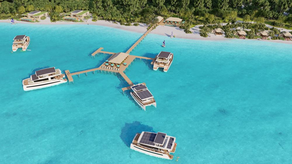 silent resort bahamas catamarano elettrico